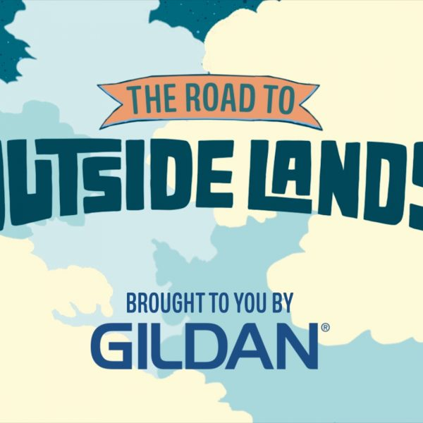 Image of a poster for the Outside Lands festival sponsored by Gildan.
