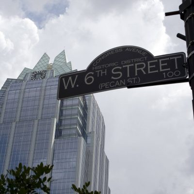 Image of a W. 6th Street sign in Austin.